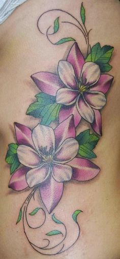 Flower Good Tattoo Ideas For Women on Rib