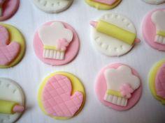 Fondant Cupcake Toppers Sweet Little Baker by CakesAndKids