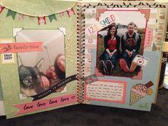 This is a page from my scrap book that I'm making for my boyfriend. Smash book Scrap book Journaling Craft Homemade Papercraft Gift