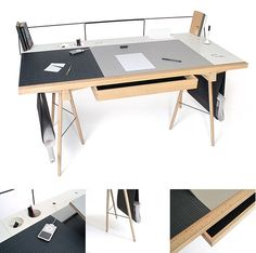 Good Architecture Desk With Homework Desk By Robin Grasby Home Office Furniture, Diy Furniture, Furniture Design, Furniture Projects, Bureau Design, Design Desk, Architecture Desk, Homework Desk, Drafting Desk