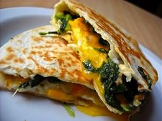creamed spinach egg flo quesedilla