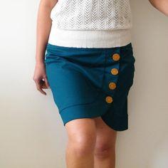 Button Wrap Skirt.