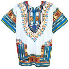 African Dashiki Mexican Poncho Hippie Tribal Ethic Boho Shirt White... ($15) ❤ liked on Polyvore featuring tribal poncho, white poncho and hippie poncho