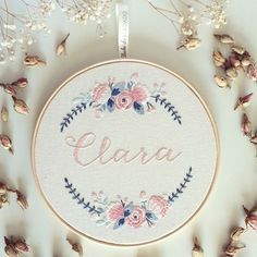 Cores clássicas para Clara {Classic colors for Clara} #clubedobordado #exclusive by clubedobordado