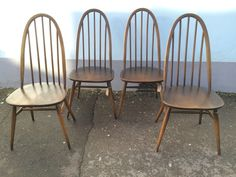 A personal favourite from my Etsy shop https://www.etsy.com/uk/listing/263648922/set-of-four-ercol-windsor-quaker-dining
