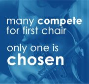 many compete for first chair. only one is chosen.