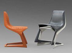 Myto Stuhl von Konstantin Grcic für Plank. Selbst das MoMA kennt diesen innovativen Entwurf von Konstantin Grcic in Zusammenarbeit mit BASF: Kein Metall glänzt hier, sondern robuster & wetterfester Kunststoff. Das neue Material lässt sogar die konstruktionsbedingte schwierige Freischwinger-Form zu - ein aufregender Stuhl für Terrasse, Balkon, Küche, Esszimmer oder Arbeit (Konferenzstuhl): http://www.ikarus.de/DE_de/p/tisch-stuhl/kunststoffstuehle/myto-stuhl.A040954.001.jsf