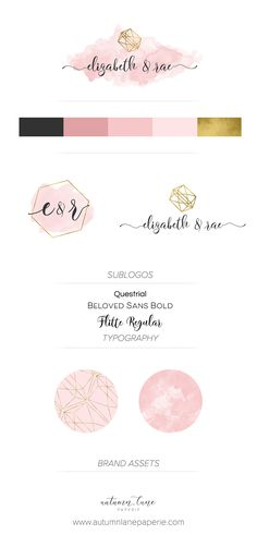 Autumn Lane Paperie - Business Branding - Brand Identity Idea - Brand Board - Brandboard - Graphic Design - Shabby Chic Rustic Design - Branding Package - Branding Ideas - Logo Ideas - Logo Design - Graphic Design - Creative Professional - Feminine Branding