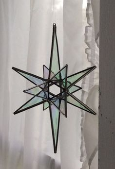 """Stained glass star - 7""""   12 point, open center"""