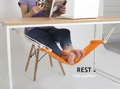 foot hammock rest. I want one of these!!