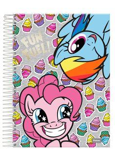 Caderno Universitário Espiral Capa Dura 1X1 96 folhas Foroni My Little Pony Fun Fuel Vac17 - Capa Única