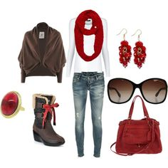 created this around the boots...and LOVE the sweater!!!!