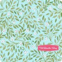 Merry Mistletoe Aqua Holly Berries Yardage SKU# PWDF236-AQUA