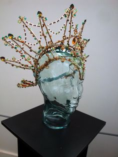 """Titania's crown, created for the 2010 production of """"A Midsummer Night's Dream,"""" on display at WKNO's """"Shakespeare Uncovered"""" costume exhibit. (designed by: Bruce Bui, TN Shakespeare Company.)"""