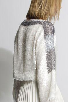 #aviu #ss14 #outfit  #back #bicolor #sequins #paillettes #sweater #skirt #plisse