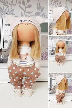 Textile doll Poupée Fabric doll Tilda doll Nursery doll Puppen Interior doll Handmade doll Bonita Blonde doll Cloth doll Bambole by Tanya E Tilda Toy, Soft Dolls, Fabric Dolls, Handmade Toys, Doll Patterns, Baby Dolls, Doll Clothes, Creations, Textiles