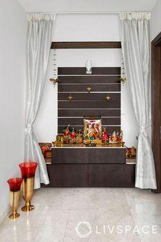 Wooden Facade, Wooden Wall Panels, Mandir Design, Pooja Room Door Design, Indian Interiors, Apartment Balcony Decorating, Puja Room, Indian Homes, Bedroom Furniture Design