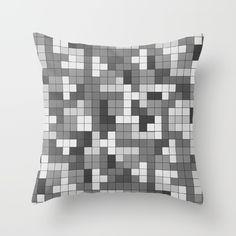 Tetris Camouflage Desert Urban Throw Pillow
