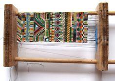 Julie Rofman bead loom used to create her handmade bracelets...
