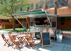 food cart and pop up seating