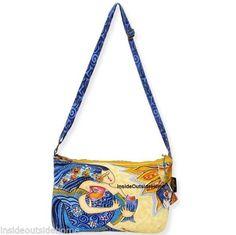 1d8a24baabac Blue Sea Dreams Crossbody Bag by Laurel Burch