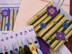 Cross Stitch, Tableware, Flowers, Punto De Cruz, Dinnerware, Dishes, Florals, Crossstitch, Flower