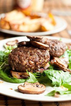 Beef burger with sautéed mushrooms | Flickr - Photo Sharing!