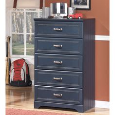 Signature Designs by Ashley Kid's Leo Blue 5-drawer Chest