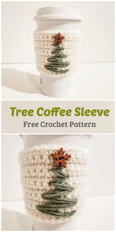 We are going to learn How to Crochet Christmas Tree Coffee Sleeve Pattern. This is a minimalist, Scandinavian design that brings the perfect amount of holiday cheer to your mug without overwhelming the eyes. These coffee cozies work up super quickly and make wonderful holiday gift ideas.