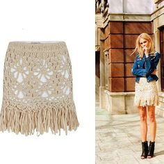 Crochet fringe skirt❥ this would be awesome to make. And you could make it knee length. with a white slip for a liner. perfect for summer.
