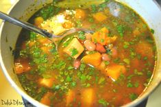Habichuelas guisadas are the quintessential Puerto Rican side dish. If there is white or yellow rice on your plate, there better be some habichuelas! Latin American Food, Latin Food, Puerto Rico, Crockpot Recipes, Cooking Recipes, Pork Recipes, Pork Soup, Mexican Food Recipes, Ethnic Recipes