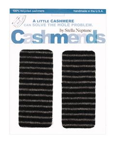 Cashmere sweater elbow patches - great idea!