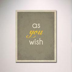 Typography / The Princess Bride Quote / Poster por EntropyTradingCo, $15.00