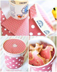 riciclo creativo vaschetta gelato www.facebook.com/pages/Cake-Craft-Luna