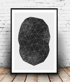 Triángulos de impresión impresión del blanco y negro por Wallzilla
