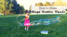 Learn how to make giant bubble wands with this step by step video tutorial and handy supply list. So cool!!