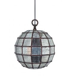 Frosted Glass Ball Shaped Chain Hanging Pendant Light
