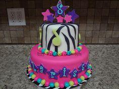 Children's Birthday Cakes - Rock Star Birthday! Rockstar Birthday, Dance Party Birthday, 9th Birthday Parties, Birthday Cakes, Girl Birthday, Birthday Ideas, Rock Star Cakes, Music Themed Cakes, Pop Star Party