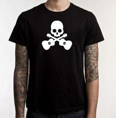 Skull & Cross Ukes T-Shirt Large. $15.00, via Etsy.