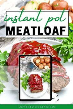 Classic Meatloaf just got a whole lot easier with this Instant Pot Meatloaf and Potatoes recipe! Cook the whole meal right in the same pot. Follow Easy Budget Recipes for more easy recipe ideas! Budget Dinners, Easy Budget, Dinner On A Budget, Budget Recipes, Cheap Dinners, Easy Holiday Recipes, Best Dinner Recipes, Fall Recipes, Christmas Recipes