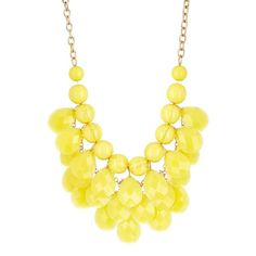 Natasha Accessories Beaded Statement Necklace found on Polyvore featuring polyvore, fashion, jewelry, necklaces, accessories, yellow, yellow statement necklace, bib necklace, tear drop necklace and beaded bib necklace