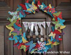 Ashley's Dandelion Wishes: Beautiful Butterflies Wreath Tutorial