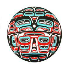 Box Drum, Reg Davidson, Northwest Coast (Haida)