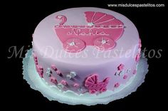 decoracion de pasteles para baby shower rosa - Google Search