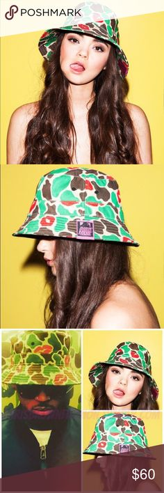 RARE MTTM BUCKET 💋 DOPE CAMO BUCKET Married to the Mob X large collab. Very rare! Size small/medium. Never worn. As seen on Chris Brown! Supreme Bape Dimepiece UNIF Supreme Accessories Hats