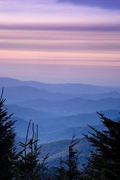 ✯ Sunset from the Top of the Blue Ridge Mountains