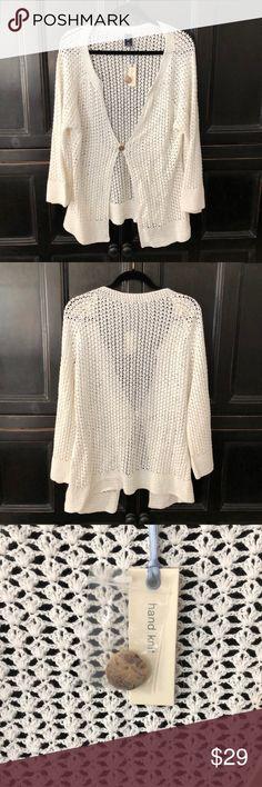 Gap Hand knit Cardigan XXL NWT Beautiful hand knit Gap Cardigan, new with tags, one button closure Gap Sweaters Cardigans