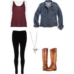 School Outfit instead of riding boots i would wear combat boots though