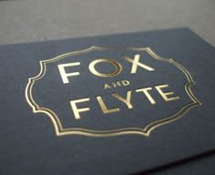 Hot foil printed business cards