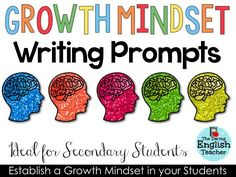 Growth Mindset Writing Prompts by The Daring English Teacher
